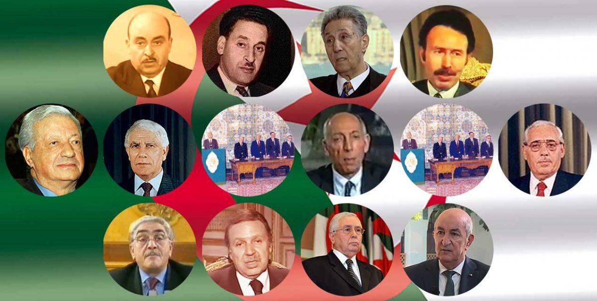 قائمة رؤساء الجزائر منذ 1962